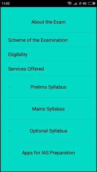 UPSC/IAS Syllabus screenshot 1