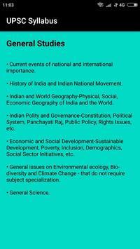 UPSC/IAS Syllabus screenshot 2