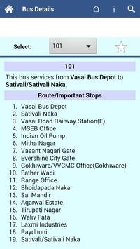 Vasai Virar Bus Info screenshot 1