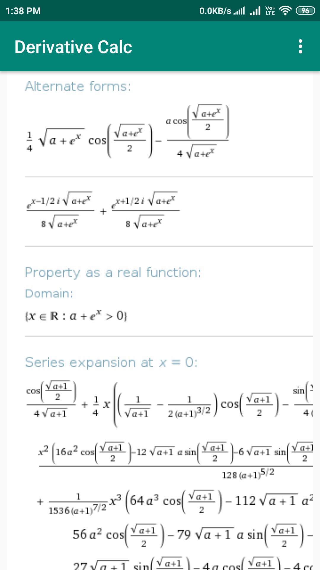 Derivative Calc poster
