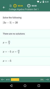 College Algebra: Practice Tests and Flashcards 截图 2
