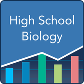 High School Biology: Practice Tests and Flashcards-icoon
