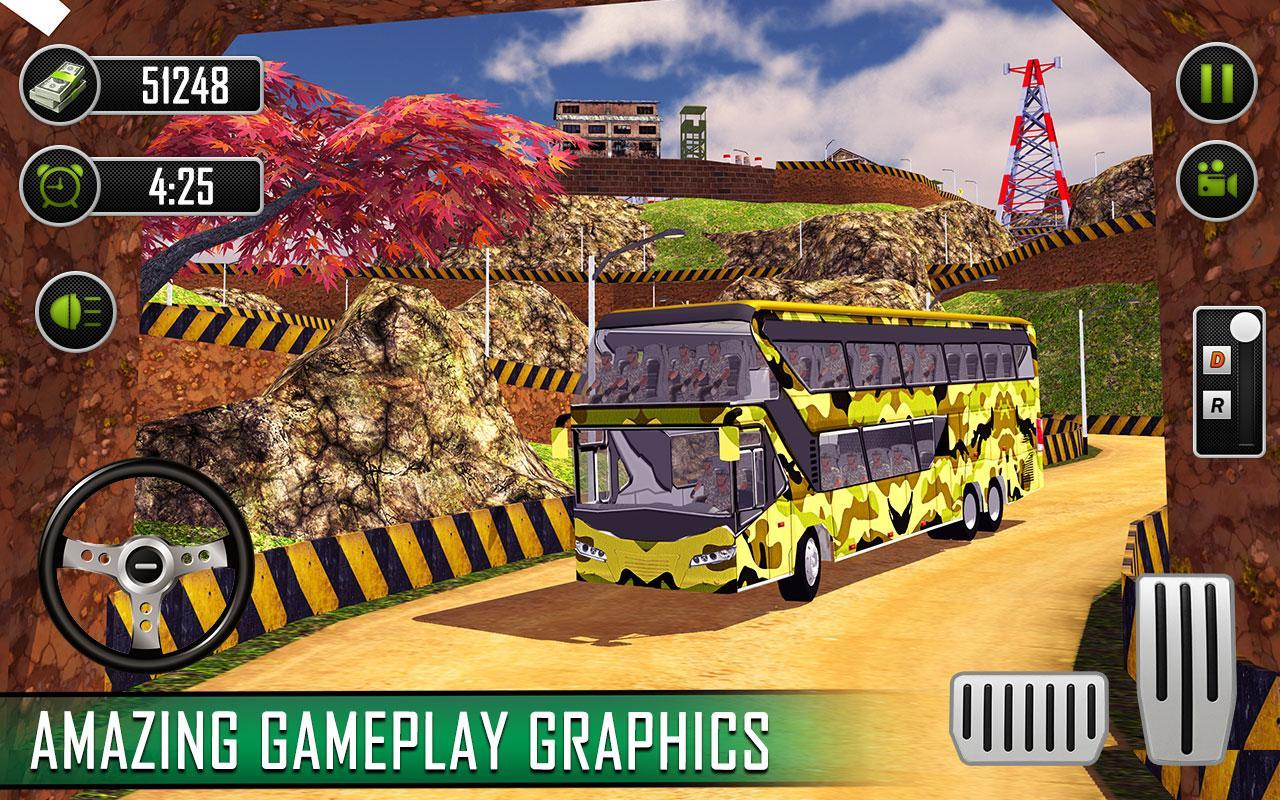US Army Bus Driver 2019: Soldier Transport Games for Android - APK