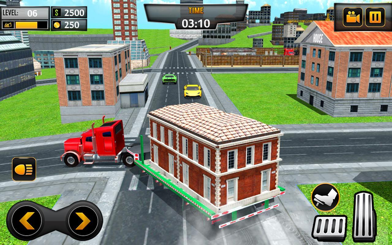 Mobile Home Transporter Truck: House Mover Games for Android