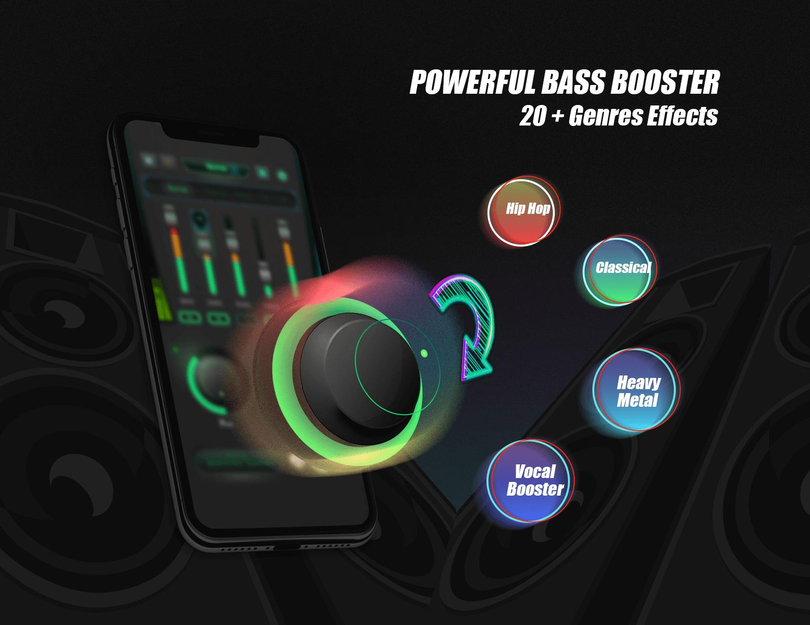 Equalizer Sound Booster - VAVA EQ Music Bass Boost for