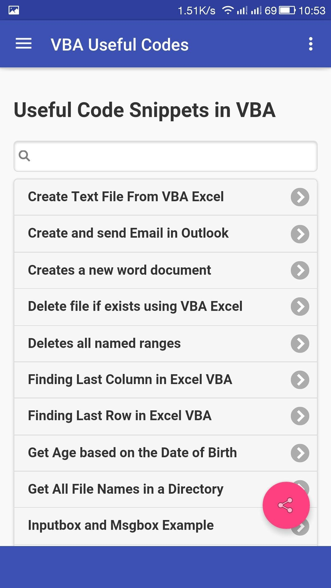 VBA Useful Codes for Android - APK Download