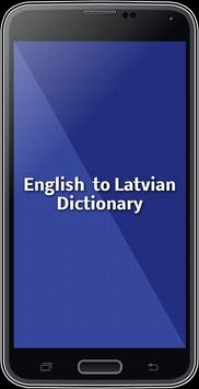 English To Latvian Dictionary poster