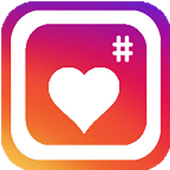 Get more likes + followers hashtag icon