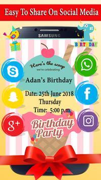 Birthday Invitation screenshot 5
