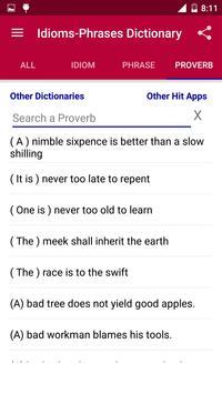 Offline Idioms & Phrases Dictionary screenshot 3