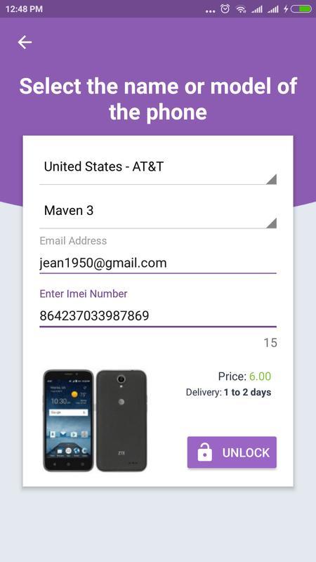 device unlock code at&t