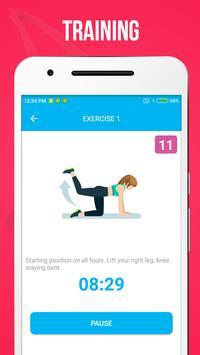 Buttocks And Legs Workout पोस्टर