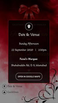 Wedding Invitation تصوير الشاشة 2