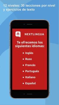 Aprende idiomas gratuitamente con Nextlingua poster