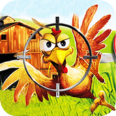 Crazy Chicken Shooting - Angry Chicken Knock Down icon
