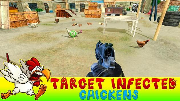 Crazy Chicken Shooting - Angry Chicken Knock Down screenshot 1