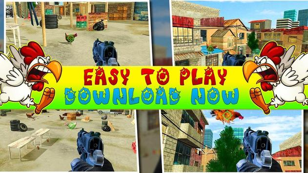 Crazy Chicken Shooting - Angry Chicken Knock Down screenshot 4