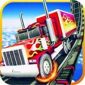 Happy Crazy wheels Trailers - Impossible Road Race icon