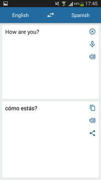 Hiszpański Angielski Tłumacz screenshot 1