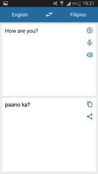 Filipino English Translator screenshot 1
