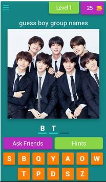 Guess Names Kpop Boygroup 2019 poster