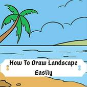 How To Draw Landscape icon