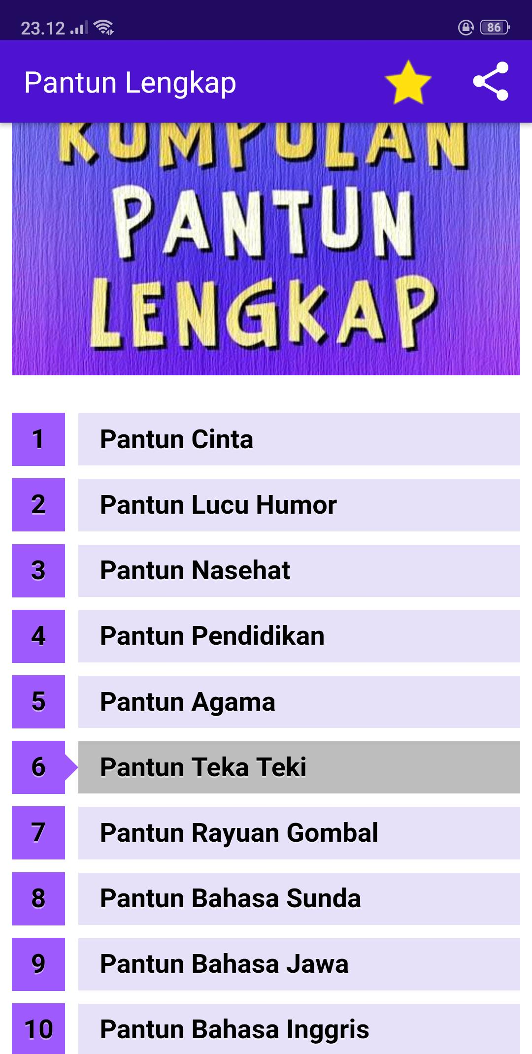 Kumpulan Pantun Lengkap fline for Android APK Download