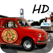 pizza delivery parking 3D HD icon
