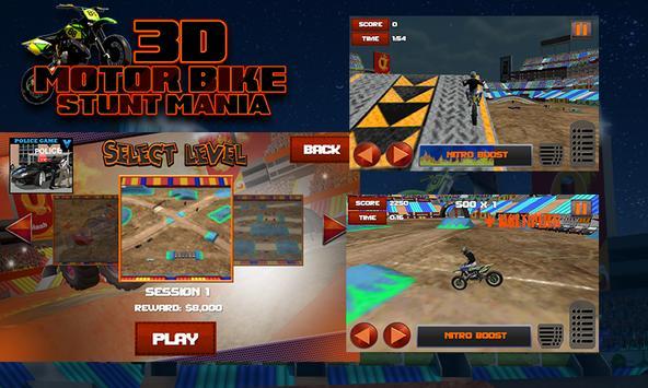 3D Motor Bike Stunt Mania screenshot 2