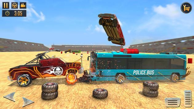 US Police Bus Demolition Derby Crash Stunts 2020 Screenshot 2