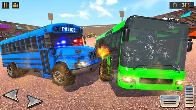 US Police Bus Demolition Derby Crash Stunts 2020 Screenshot 15