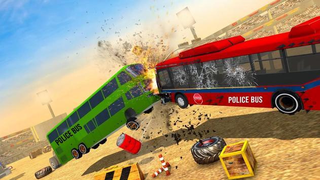 US Police Bus Demolition Derby Crash Stunts 2020 Screenshot 3