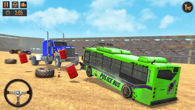 US Police Bus Demolition Derby Crash Stunts 2020 Screenshot 6