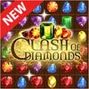 Clash von Diamanten - Match 3 Juwel Spiele Zeichen