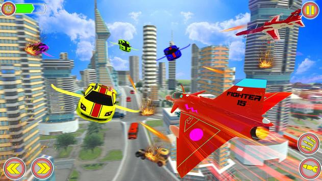Police Air Jet Robot Car Transform Shooting Game screenshot 6