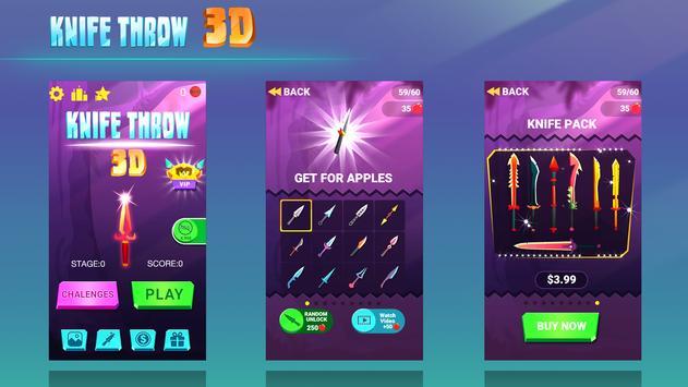 Knife Throw 3D screenshot 5