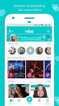 Vibo: прямой эфир,видеочат,Случайный видеозвонок-в скриншот 21