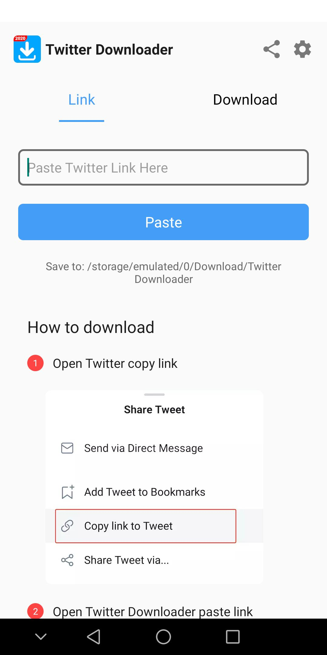 Android Icin Download Twitter Videos Save Twitter Video Gif Apk Yi Indir