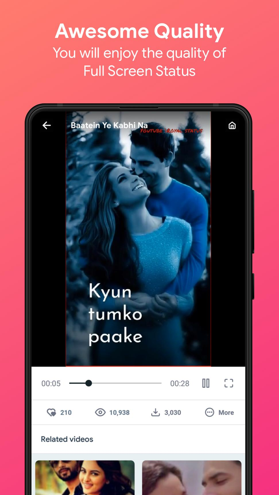 Video Songs Status (Lyrical Videos) - VidJoy for Android