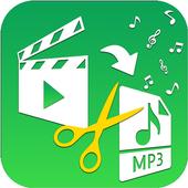 Video to MP3 Converter, RINGTONE Maker, MP3 Cutter icon