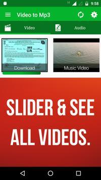 Video to MP3 Converter, RINGTONE Maker, MP3 Cutter screenshot 1