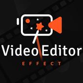 Video editor video maker, photo video maker music icon