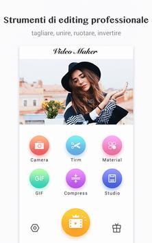 9 Schermata Editor video / Video Maker, foto, musica, taglio