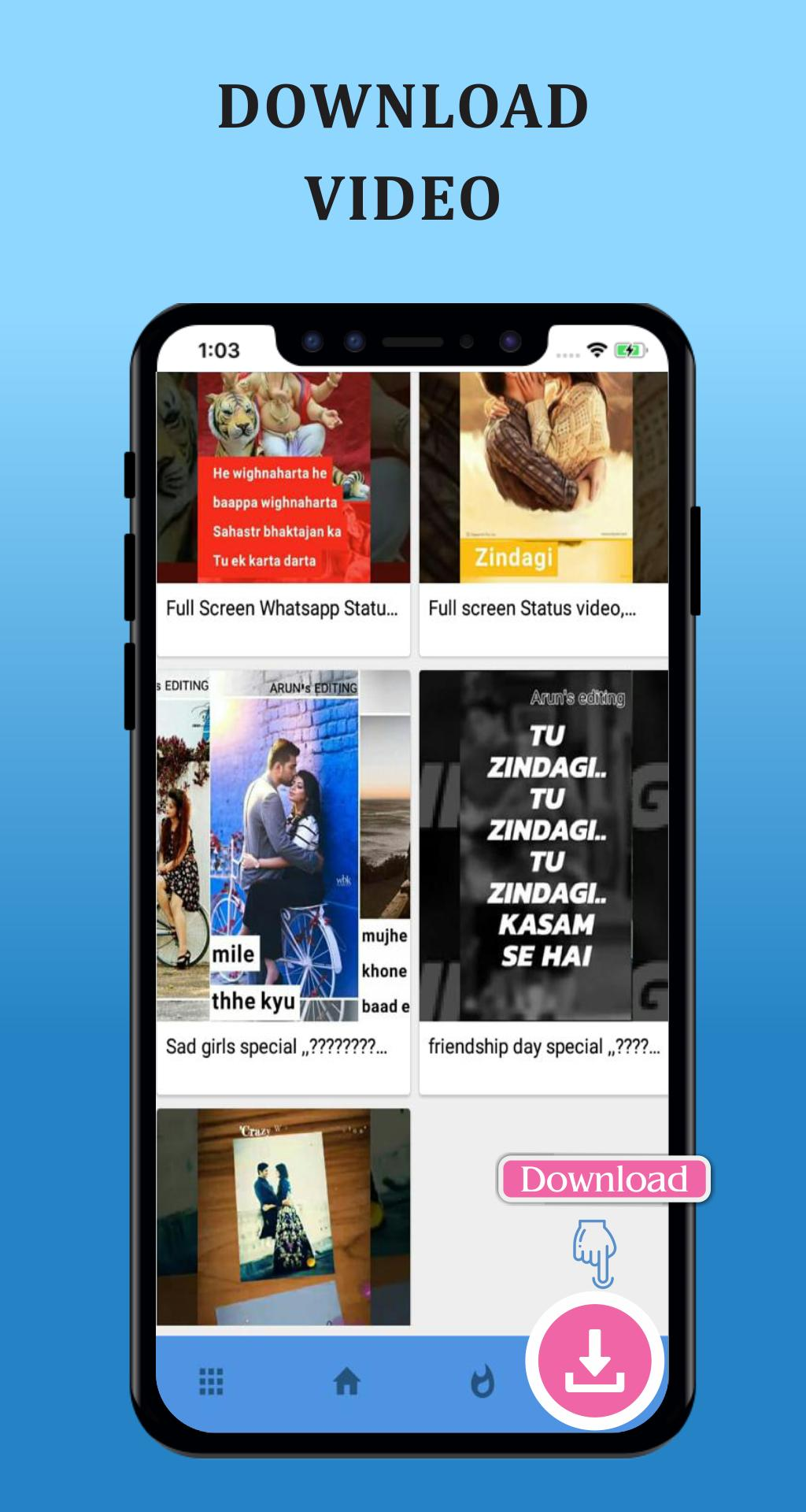 Fancy Full Screen Video Status For Android Apk Download
