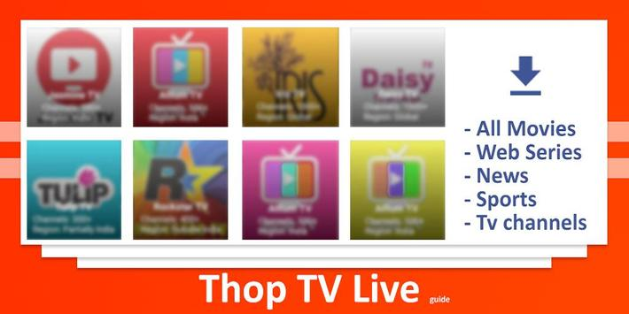 THOP TV - Live Cricket TV , Movies Free Guide plakat