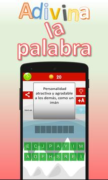 Adivina la palabra. Vocabulario español poster