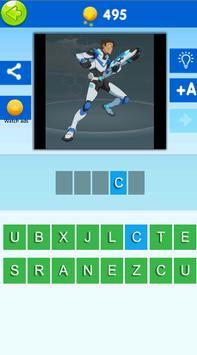 Quiz Voltron. Guess the character of Voltron screenshot 1