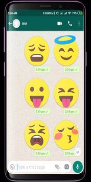 Bigmoji HD WhatsApp Stickers screenshot 3