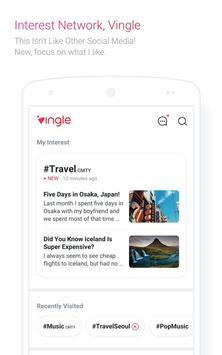 Vingle, Interest Network. poster