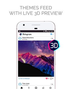 Hologram Background - HD Wallpapers in 3D imagem de tela 1